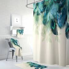 scenic shower curtain blue shower curtain mountain shower mountain shower curtain shower curtain pea feather fl