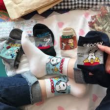 <b>1Pair NEW</b> Korea Snoopy Socks Adult Socks <b>Men</b> Women Socks ...