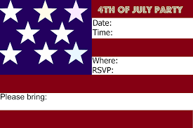 invite your family and friends to your 4th of july party with some patriotic invitations