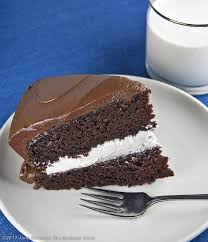 Homemade Little Debbie Chocolate Layer Cake With Vanilla Filling