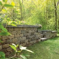 diy retaining wall in the garden