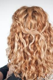 half up curly hair