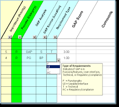 gap analysis template requirements identification fit gap analysis