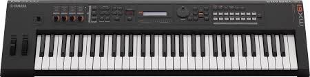 yamaha mx61. yamaha mx61 v2 keyboard synthesizer, 61-key, black, black front mx61 m