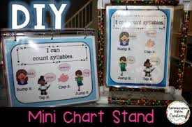 Mini Anchor Chart Stand Diy Mini Chart Stands Differentiation Station Creations