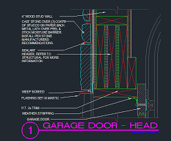 garage door head detail cad files dwg files plans and details