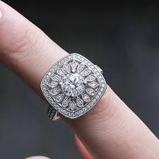 Creative <b>Hollow</b> Floral Wedding Rings for Women Luxury <b>Inlaid</b> Full ...