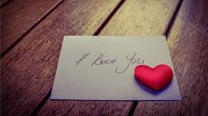 love letter with heart hd wallpaper