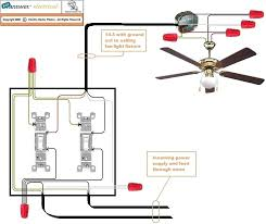 wiring a ceiling fan with light two switch ceiling fan wiring diagram wiring diagram co ceiling