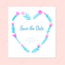 Save The Date Cards Template Beautiful Watercolor Card Template For Wedding Invitation Save