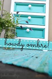 turquoise painted furniture ideas. Ombre Aqua Dresser Makeover DIY Painted Furniture White Turquoise Ideas C