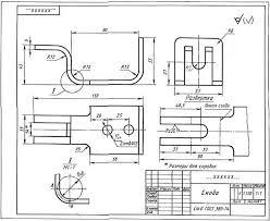 изображение деталей на чертежах