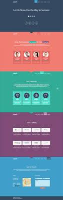 Single Page Website Design Template Flat Monday Free Single Page Website Template For Business