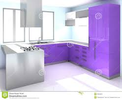 Purple Kitchen Modern Purple Kitchen Stock Images Image 9065924