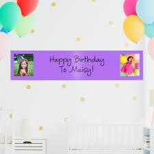 happy birthday customized banners custom photo banners