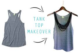 you probably have all of the necessary supplies at home so follow the steps below and give your tank top a fresh look