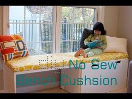 diy no sew bench cushion seat window