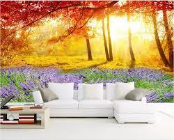 Custom photo 3d wallpaper Lavender ...