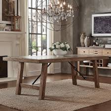 Dakota Oak Reinforced Concrete Trestle Dining Table by iNSPIRE Q Artisan |  Overstock.com Shopping