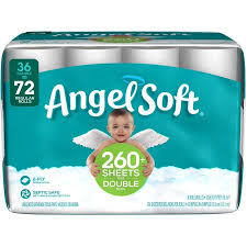 Bathroom Tissue Interesting Angel Soft Toilet Paper 48 Double Rolls Walmart