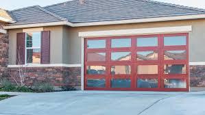 modern wood garage door