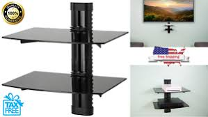 Floating Shelves For Tv Accessories 100 Floating Shelves Large Wall Mount Tempered Glass TV Accessories 37