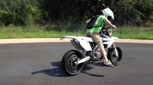 supermoto street legal crf450 burn out youtube