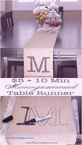 just 5 and minutes you have an awesome monogrammed burlap table runner runners crochet patterns