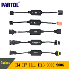 popular h7 harness buy cheap h7 harness lots from h7 harness partol h4 h7 h11 h13 9005 9006 cable adapter canbus wiring harness adapters car led headlight