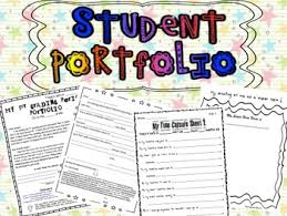 Student Portfolios Student Portfolios For All Subjects Using Common Core Tpt