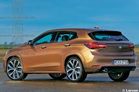 Coupe Series bmw x2 2016 : BMW X2 rear three quarters rendering - Indian Autos blog