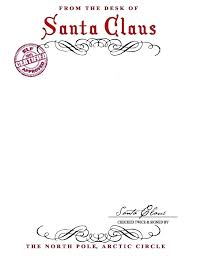 Free Letter From Printable Letters Santa Word Template Envelope