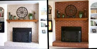sightly painted brick fireplace before and after staining brick fireplace painted brick fireplace pictures before and