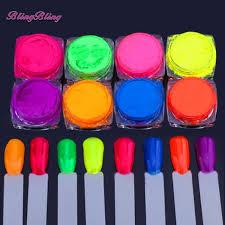 8 Krabice Neon Pigmentu Nehtu Prášek Prachu Ombre Nehty Třpytky Gradient Třpytky Iridescent Akryl Prášek Pestré Nehty Výzdobě Výzdobě Pestré
