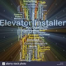 Background Concept Wordcloud Illustration Of Elevator Installer