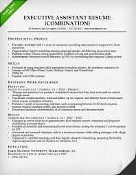Executive Assistant Resume Combination Image Photo Album Sample