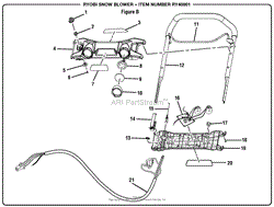 homelite ry40801 snow blower parts diagram for wiring diagram figure b