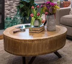 round wood coffee table design ideas