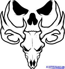 Skull tattoo design with meaningful quotes can be the best ideas for getting a 42. Simple Skull Tattoos Google Search Tats Pinterest Simple Skull Deer Skull Tattoos Deer Skull Drawing
