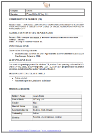 Kellogg Resume Format Awesome MBA Information Technology Resume Format Page 48 Career In 48018