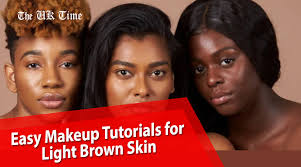 easy light brown skin makeup tutorials