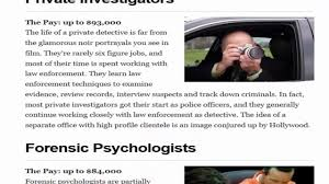Highest Paying Jobs In Criminal Justice Youtube