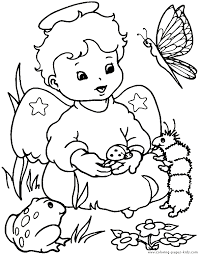 Small Picture Christmas Angel Coloring Pages Angels coloring pages and