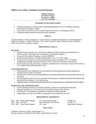 Functional Resume for Job Transitioning Example