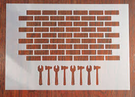 1 6 scale brick wall stencil mask reusable mylar sheet for arts crafts