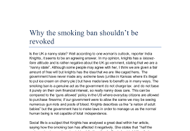 why the smoking ban shouldnt be revoked gcse english marked by document image preview