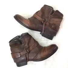 Miz Mooz Seymour Ankle Boots Leather Brown