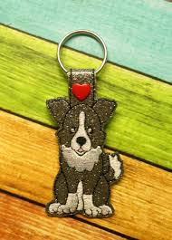 Dog Key Fob Embroidery Designs In The Hoop Dog Key Fob Set 4 Embroidery Machine Design Set