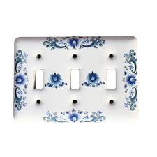 porcelain switch plates. Beautiful Switch Porcelain Switch Plate Triple Toggle Delft Blue Wall  Renovatoru0027s Supply   Walmartcom Inside Plates P