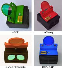 4 quick change led fluorescence modules